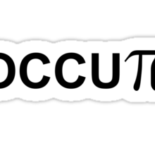 OCCUPi Occupy T-shirt Sticker