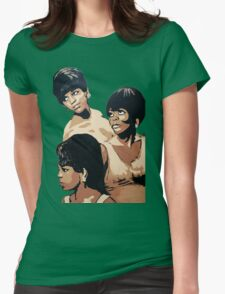 Diana Ross & the Supremes Womens Fitted T-Shirt