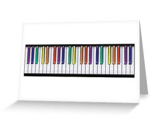 Piano (colour) Greeting Card