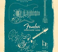 Fender Stratocaster Gibson Guitar Plans by Pepe Psyche