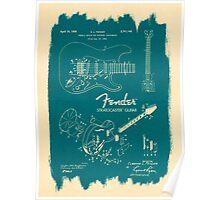 Fender Stratocaster Gibson Guitar Plans Poster