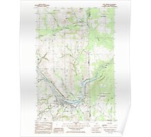 Maine USGS Historical Map Fort Fairfield 105145 1984 24000 Poster