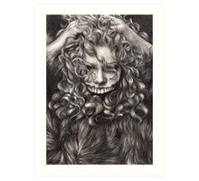 girl, invisible monsters Palahniuk, horror, face, dark, eyes Art Print