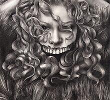 girl, invisible monsters Palahniuk, horror, face, dark, eyes by RISHAMA