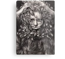 girl, invisible monsters Palahniuk, horror, face, dark, eyes Metal Print