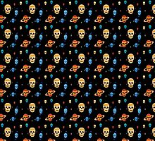 Skull Planets pattern by jezkemp