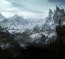The Elder Scrolls V - Skyrim landscape by ghoststorm