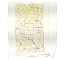 Maine USGS Historical Map Fort Fairfield 460403 1951 62500 Poster