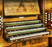 Church Organ Art by Ian Mitchell