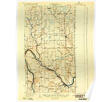Maine USGS Historical Map Fort Fairfield 807491 1933 62500 Poster