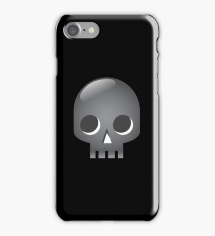 Grey skull iPhone Case/Skin