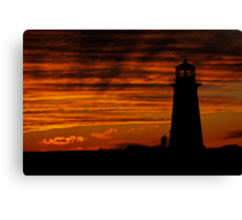 A Lover's Sunset - Peggy's Cove, NS Canvas Print