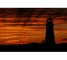 A Lover's Sunset - Peggy's Cove, NS Photographic Print