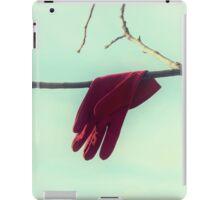 red glove iPad Case/Skin