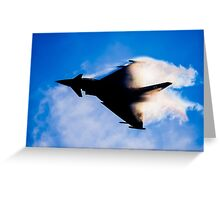 Typhoon Silhouette Greeting Card