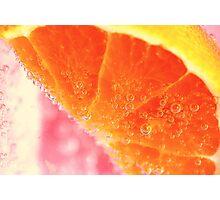 Fizzy orange Photographic Print