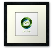 Earth Day Design Framed Print