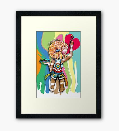 Art Chick Framed Print