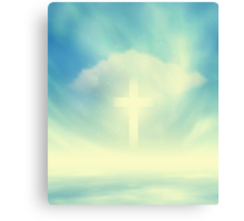 Christian Glowing Cross Canvas Print