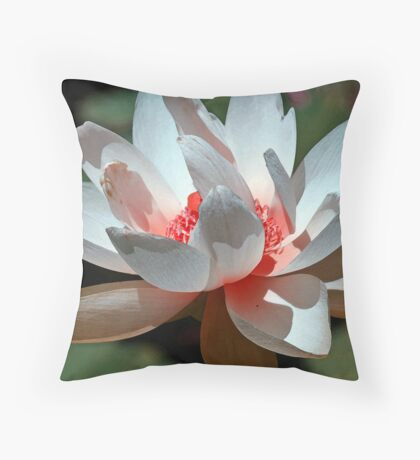 Watercolor red and white Throw Pillow