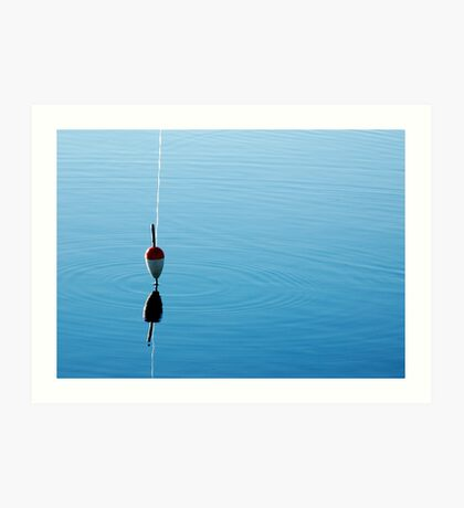 FLOAT IN A RIPPLE Art Print