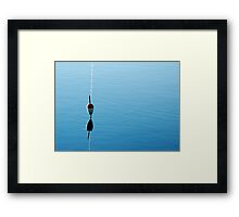 FLOAT IN A RIPPLE Framed Print