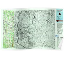 Maine USGS Historical Map Fort Fairfield 807924 1993 100000 Poster