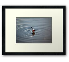 float in water Framed Print