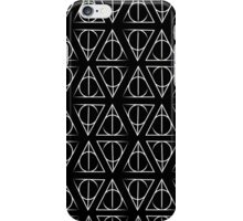White Deathly Hallows Pattern iPhone Case/Skin