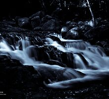 Luminous Mountain Stream, B&W Conversion, White Mtns, NH by Richard VanWart