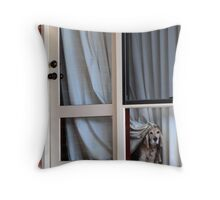 'Going to work? but it's Sunday!' Throw Pillow