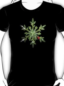 Winter Holidays Pine Snowflake T-Shirt