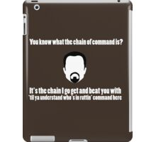 The Chain of Command - White iPad Case/Skin