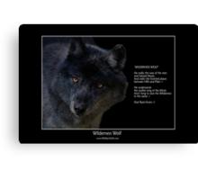 """""""Wilderness Wolf"""" Canvas Print"""