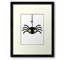 Little incy wincy spider hanging down from the neck cute! Framed Print