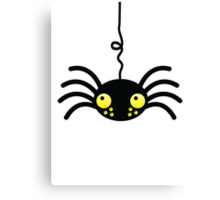 Little incy wincy spider hanging down from the neck cute! Canvas Print