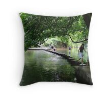 Stepping Stones, Box Hill, Surrey Throw Pillow