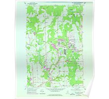 Maine USGS Historical Map Fort Fairfield NW 806702 1953 24000 Poster