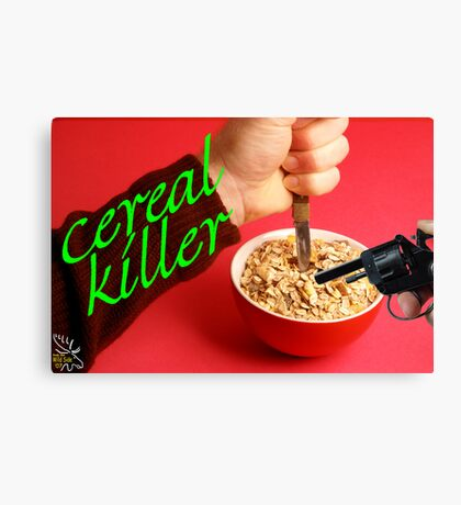 Cereal Killer at Home Canvas Print