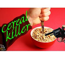Cereal Killer at Home Photographic Print