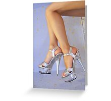 Legs and heels Greeting Card
