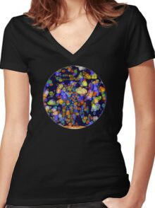 Abstract Landscape 1 Women's Fitted V-Neck T-Shirt