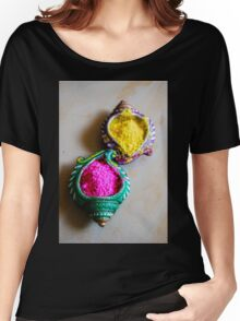 Yellow & Pink Women's Relaxed Fit T-Shirt