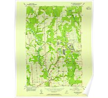 Maine USGS Historical Map Fort Fairfield NW 806703 1953 24000 Poster
