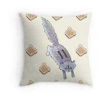 Toaster the Cat Throw Pillow