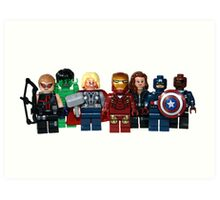 LEGO Avengers with Nick Fury Art Print