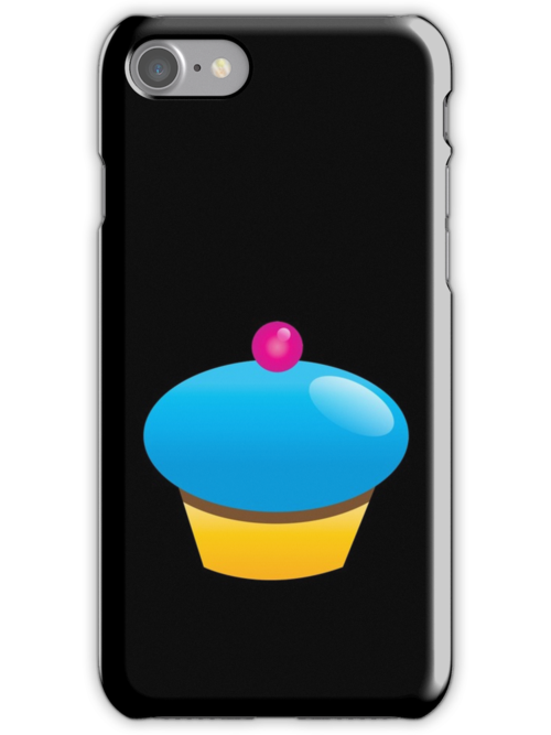 Single blue cupcake sweet by jazzydevil