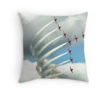 Arrows Swan Formation Throw Pillow