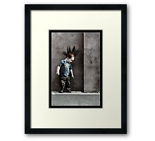 Punx not dead ... he just hasn't grown up yet.. Framed Print