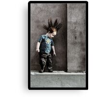Punx not dead ... he just hasn't grown up yet.. Canvas Print